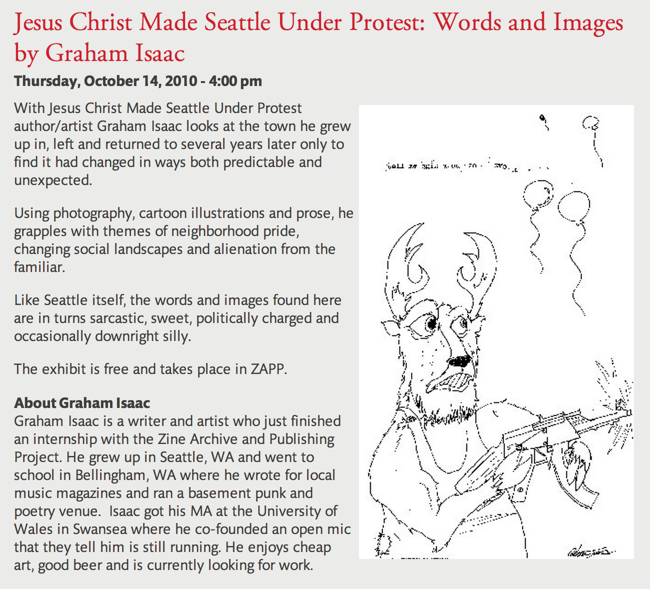 jesus christ made seattle under protest words and images by