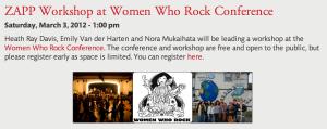 Women Who Rock March 2012